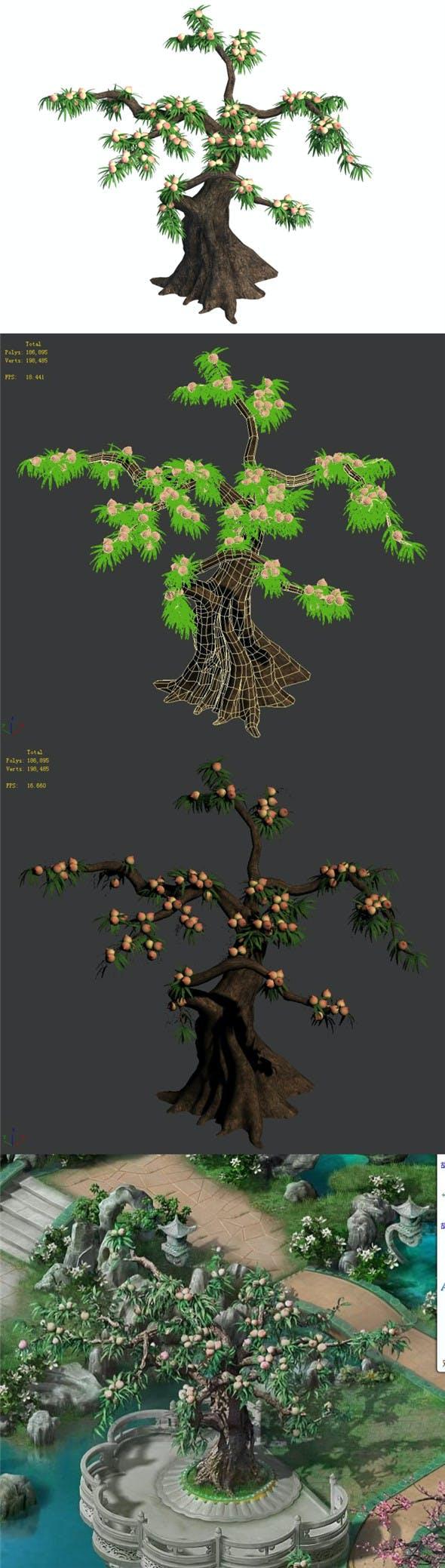 Plant - Peach 033 - 3DOcean Item for Sale