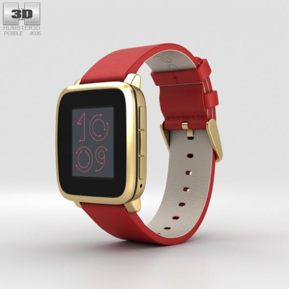 Pebble Time Steel Gold - 3DOcean Item for Sale