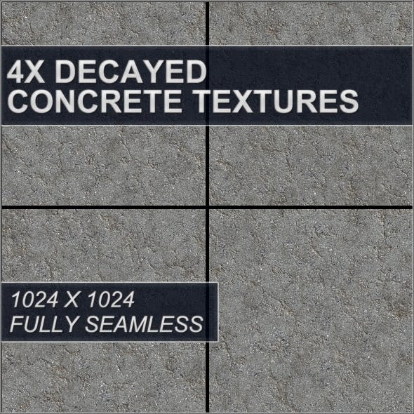 Decayed Concrete Textures - 3DOcean Item for Sale