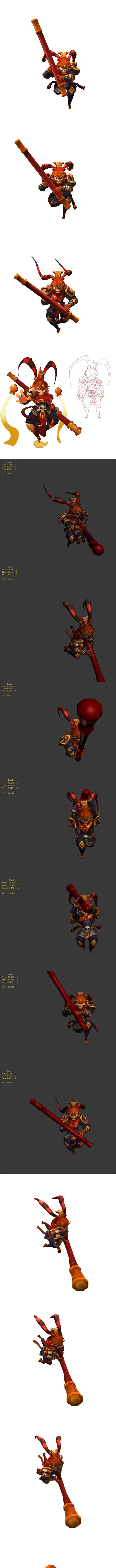 Game animated characters - Sun Da Sheng - 3DOcean Item for Sale