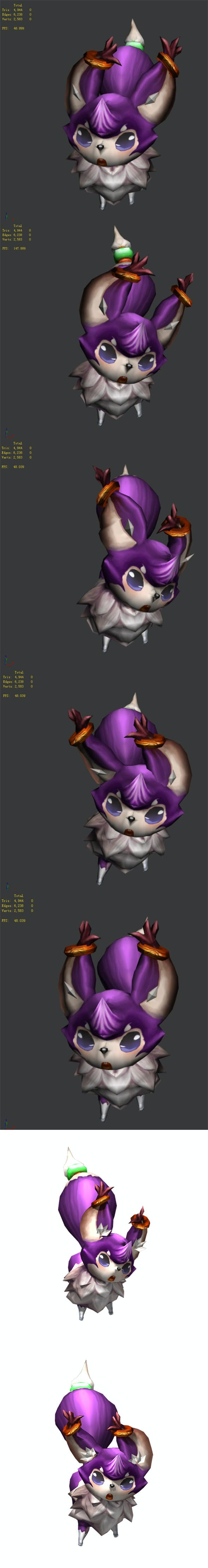 Game animated characters - small foxes - 3DOcean Item for Sale