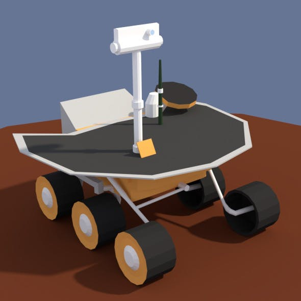 Low Poly Cartoony Planet Rover 2