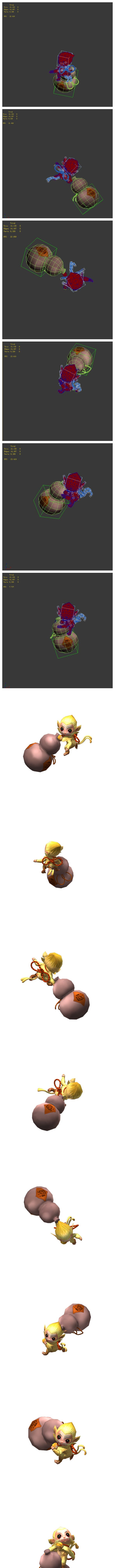 Game animated characters - small monkey - 3DOcean Item for Sale