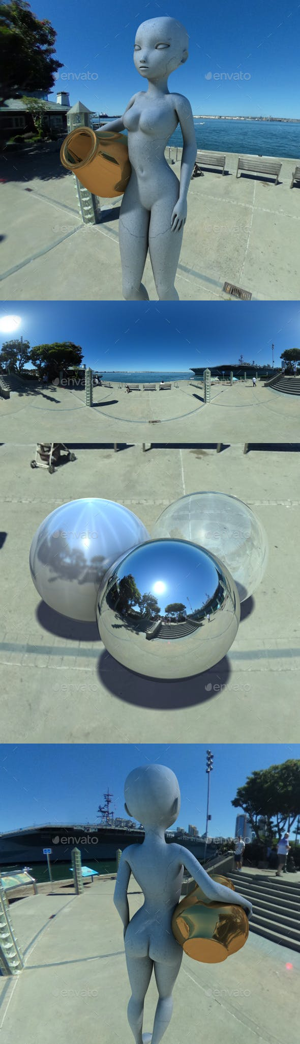 Clear Blue Sky Pier HDRI - 3DOcean Item for Sale