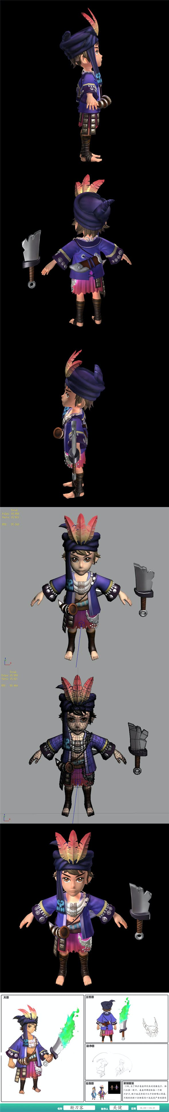 Game characters - Broken knife - 3DOcean Item for Sale