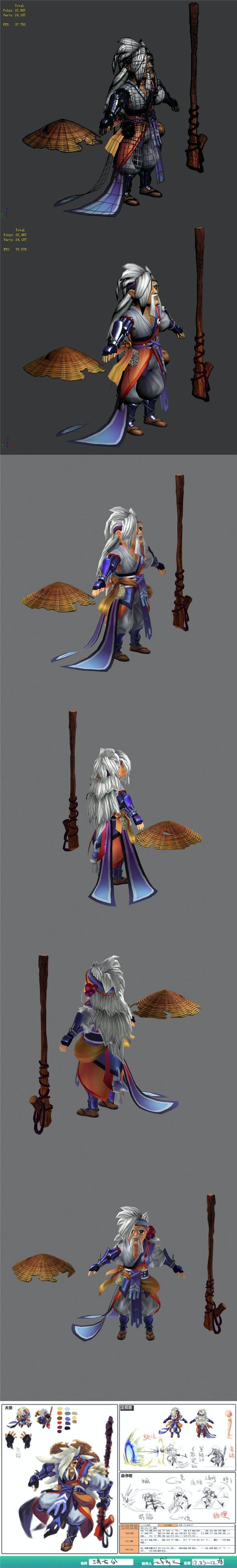 The characters of the game - Hong Qi Gong - 3DOcean Item for Sale