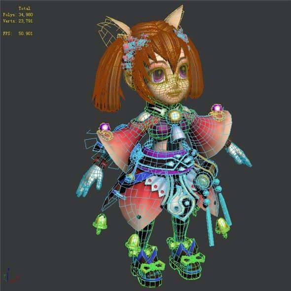 Game character character - bell light rain