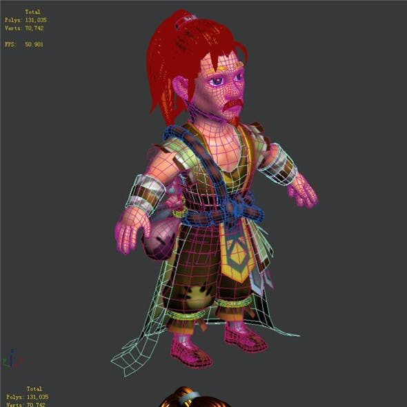 The character of the game - Lu has feet