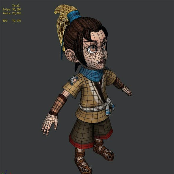 Game characters - male villagers