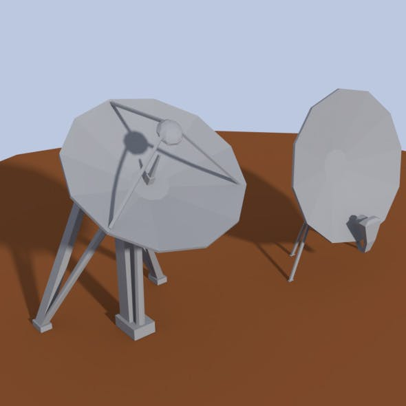 Low Poly Antenna Dish