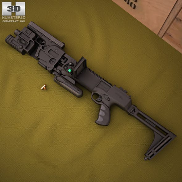 CornerShot CSM with Glock 21 - 3DOcean Item for Sale