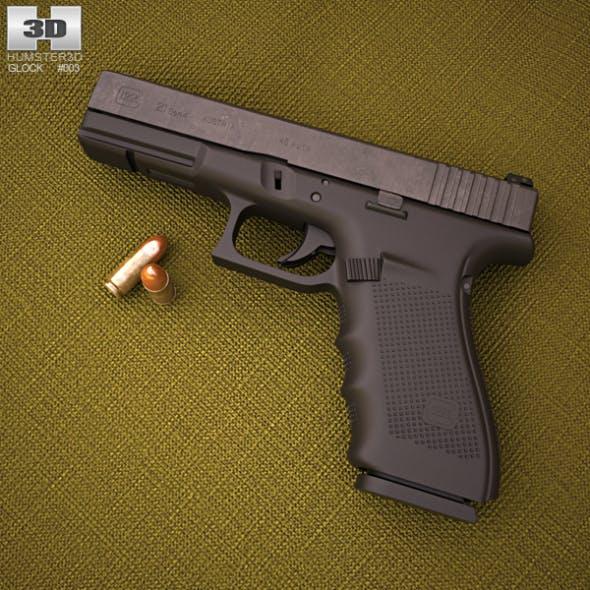 Glock 21 Gen4 - 3DOcean Item for Sale