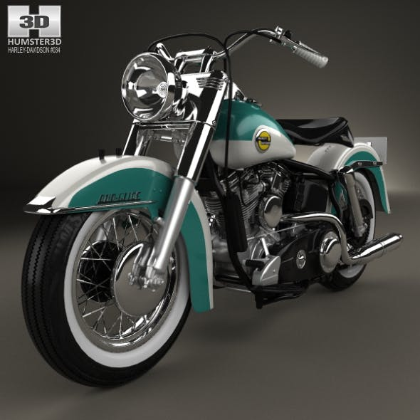 Harley-Davidson Panhead FLH Duo-Glide 1958 - 3DOcean Item for Sale