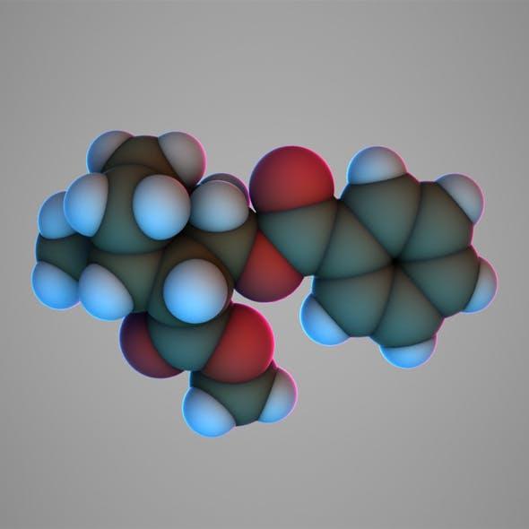 Cocaine molecule