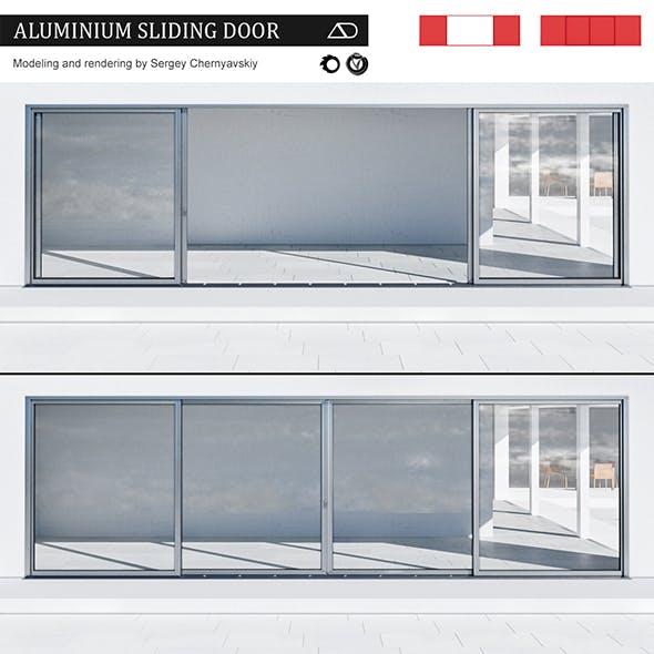 Aluminium sliding door - 3DOcean Item for Sale
