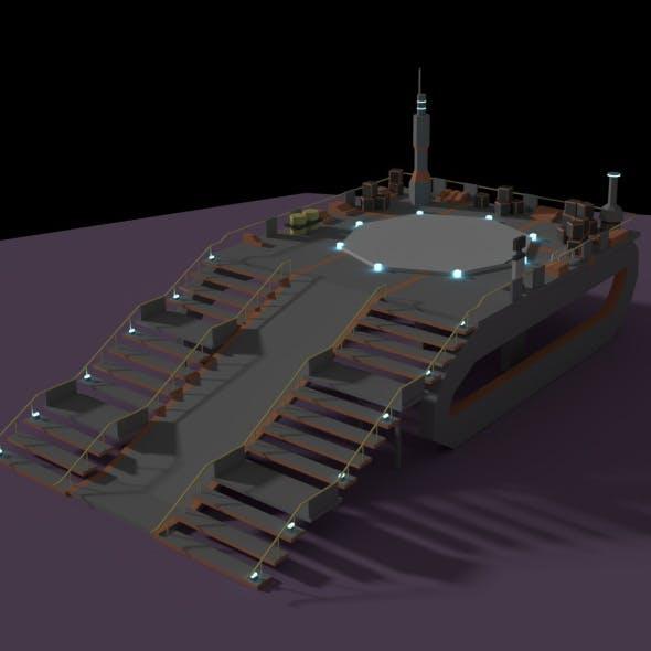 Low Poly Spaceship Platform - 3DOcean Item for Sale