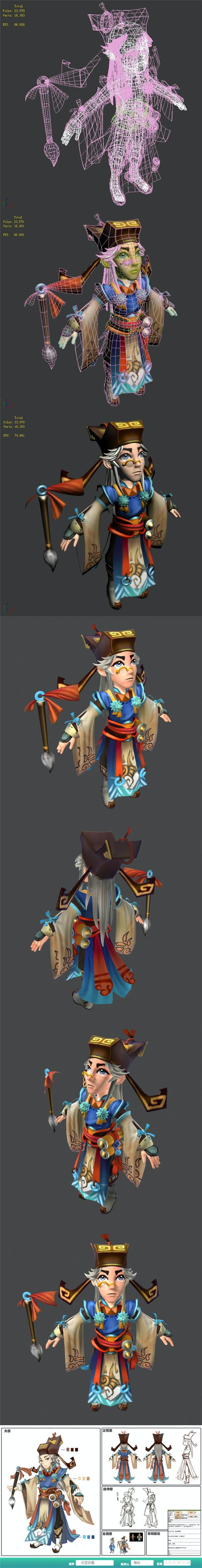 Game characters - ingot trading notary - 3DOcean Item for Sale