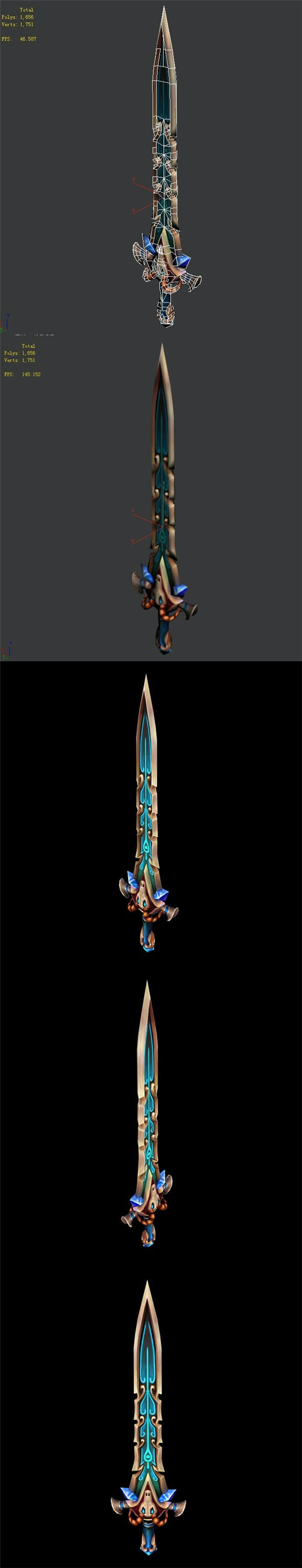 Game character weapon - purely - 3DOcean Item for Sale