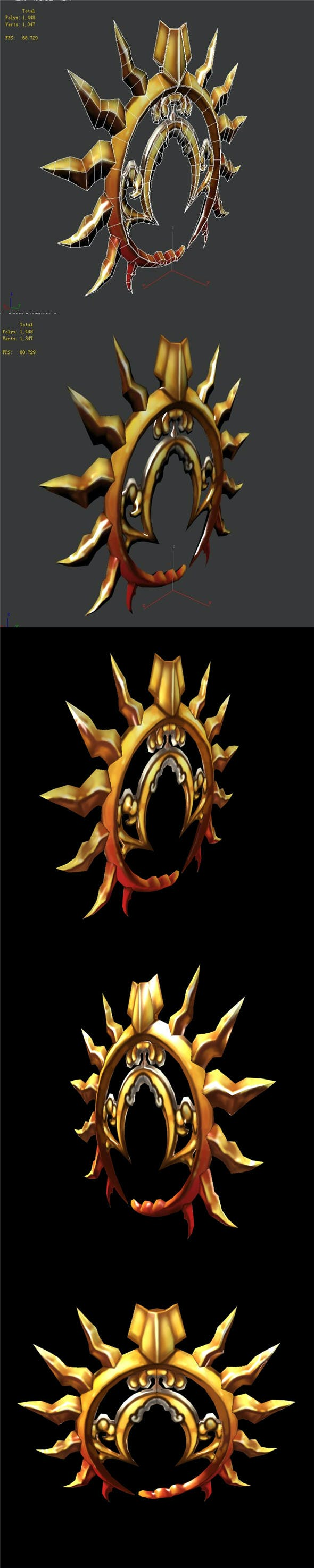 Game characters weapons - two days sun and the moon - 3DOcean Item for Sale
