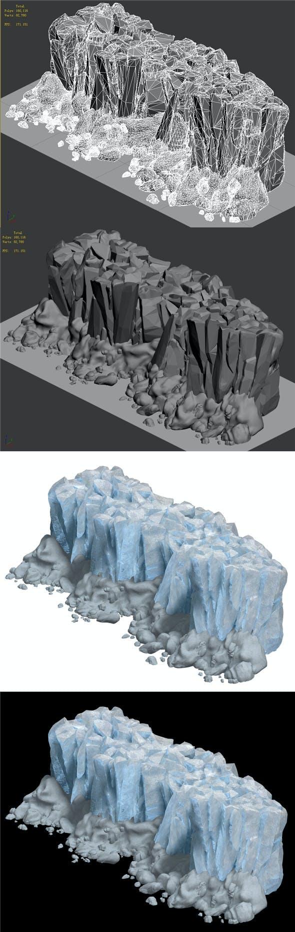 Iceberg - Ice Road Mountain 02 - 3DOcean Item for Sale