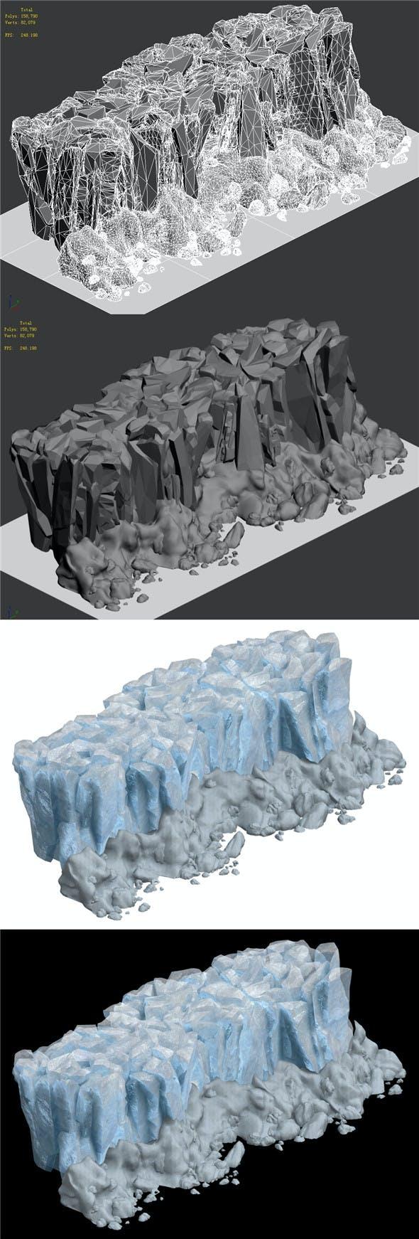Iceberg - Ice Road Mountain 06 - 3DOcean Item for Sale