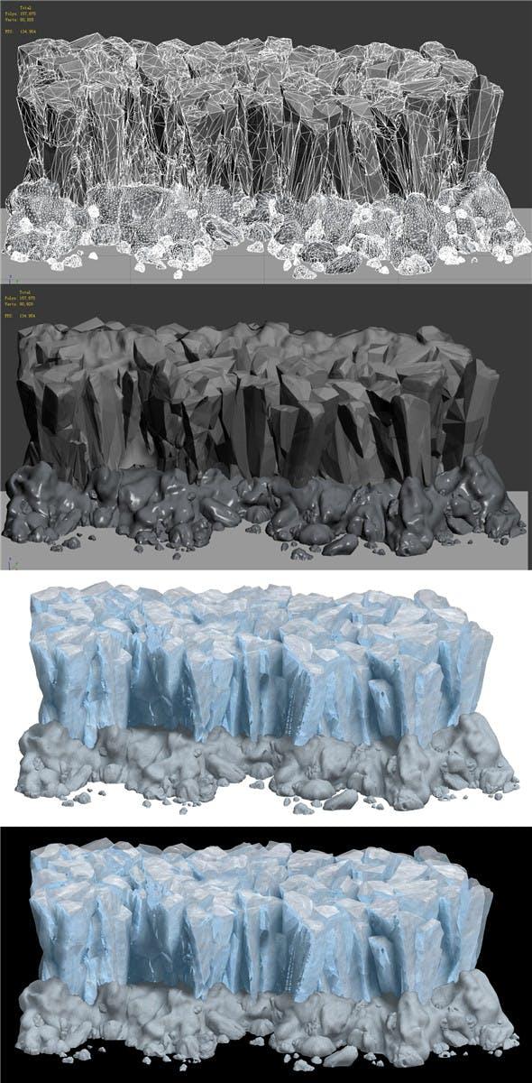 Iceberg - Ice Road Mountain 08 - 3DOcean Item for Sale