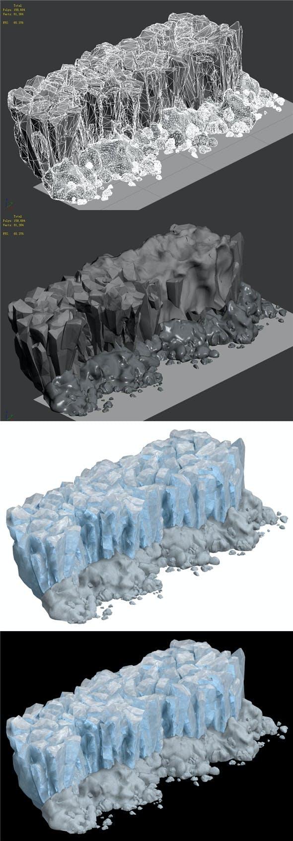 Iceberg - Ice Road Mountain 10 - 3DOcean Item for Sale