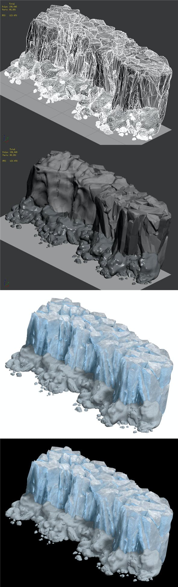 Iceberg - Ice Road Mountain 12 - 3DOcean Item for Sale