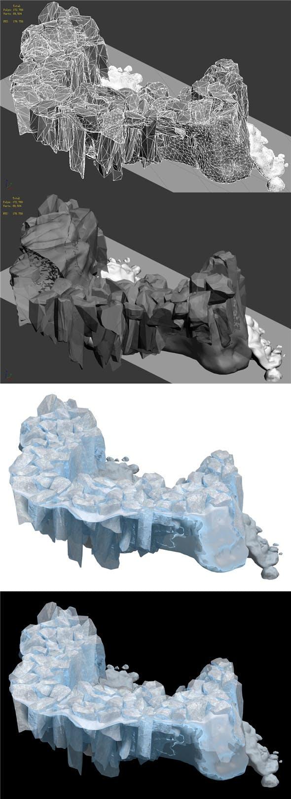 Iceberg - Ice Road Mountain 13 - 3DOcean Item for Sale