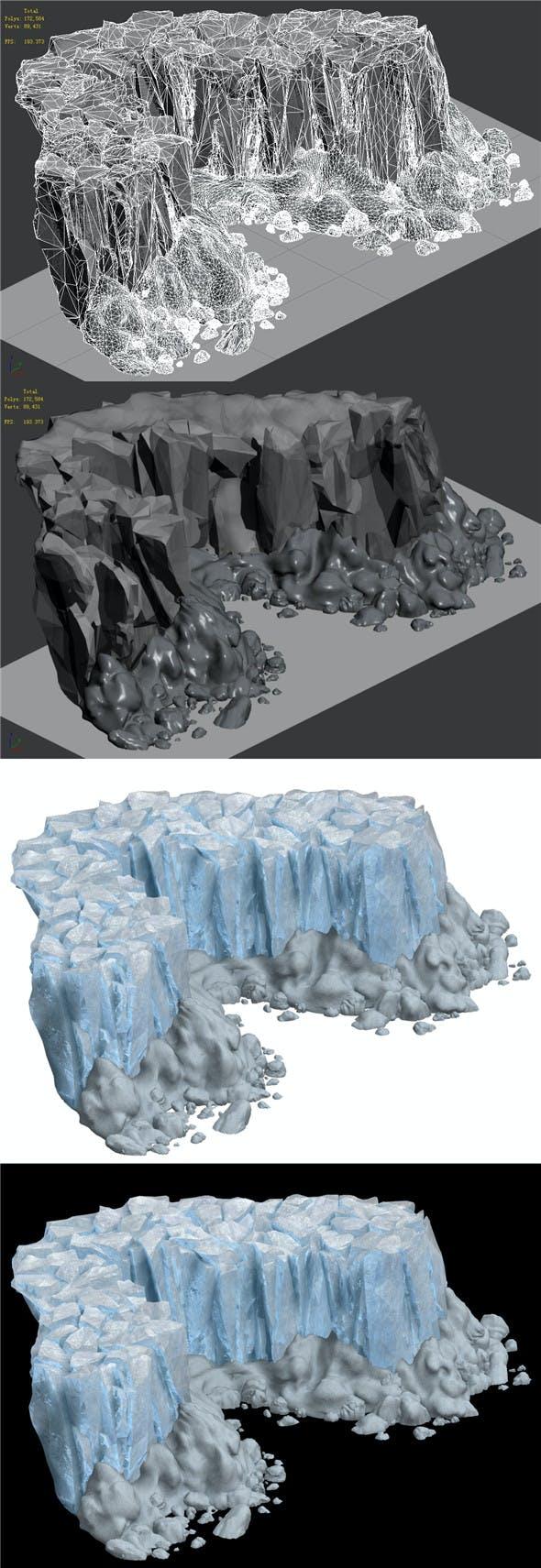Iceberg - Ice Road Mountain 16 - 3DOcean Item for Sale
