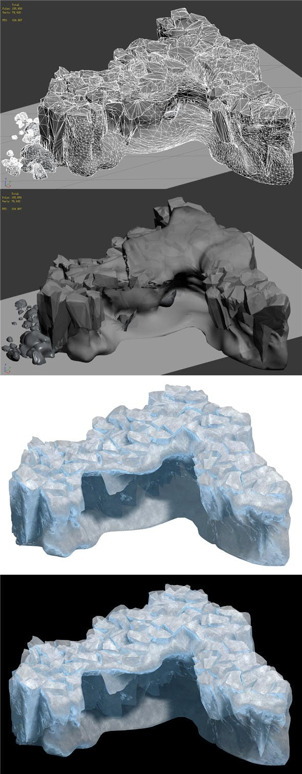 Iceberg - Ice Road Mountain 17 - 3DOcean Item for Sale