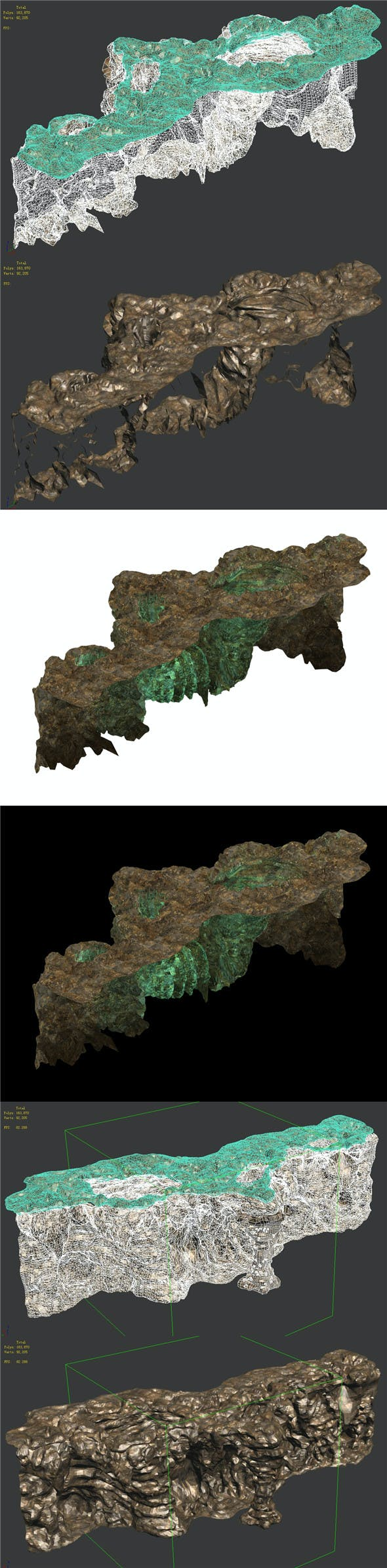 Ghost Gate Palace Mountain 02 - 3DOcean Item for Sale