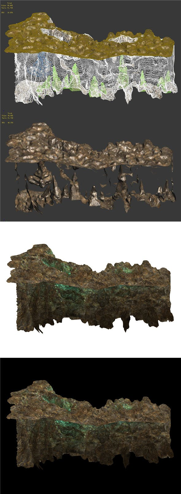 Ghost Gate Palace Mountain 07 - 3DOcean Item for Sale
