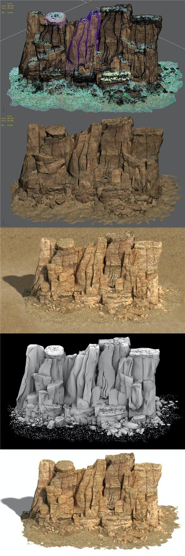 Barracks - Desert - Mountain 02 - 3DOcean Item for Sale