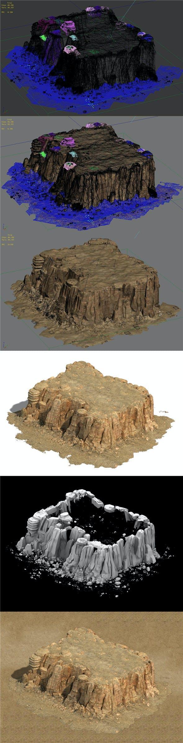 Barracks - Desert - Mountain 05 - 3DOcean Item for Sale