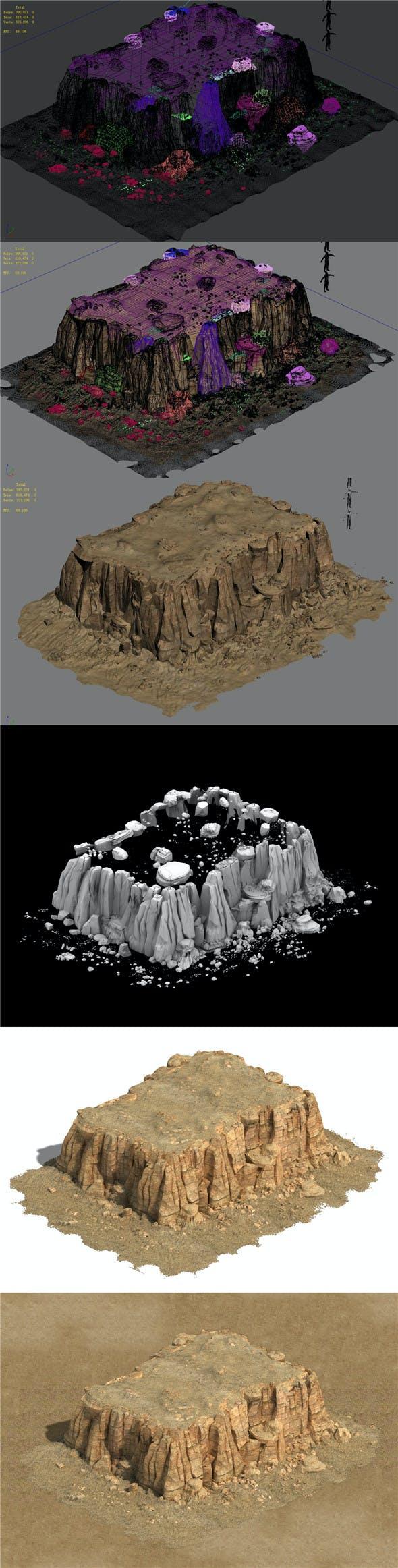 Barracks - Desert - Mountain 06 - 3DOcean Item for Sale
