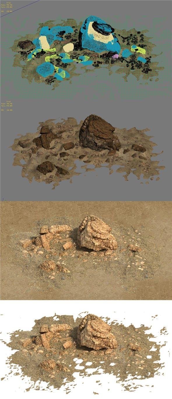 Barracks - Desert Stones - Crushed Stone 03 - 3DOcean Item for Sale