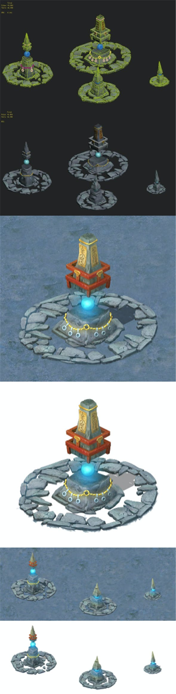 Cartoon version - Crested stone - 3DOcean Item for Sale