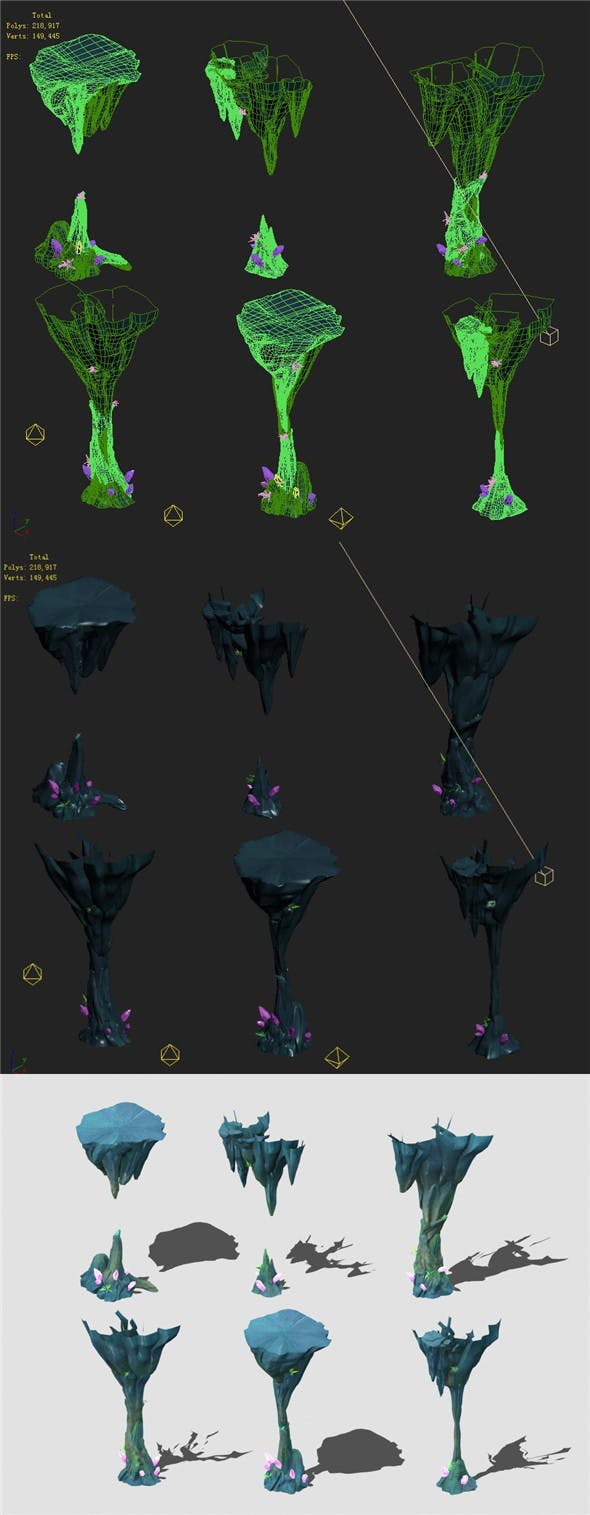 Cartoon Sky City - Fake Terrain 11 - 3DOcean Item for Sale