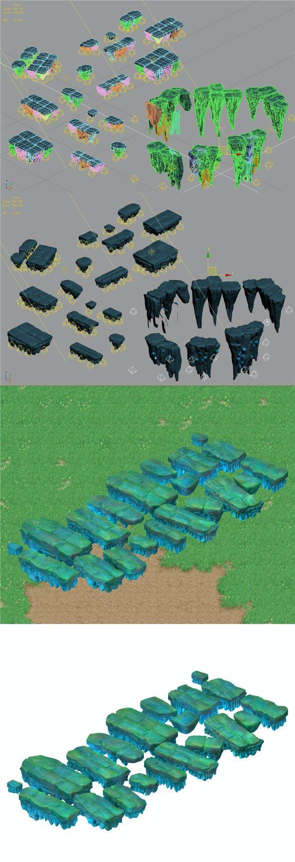 Cartoon Sky City - Fake Terrain 12 - 3DOcean Item for Sale