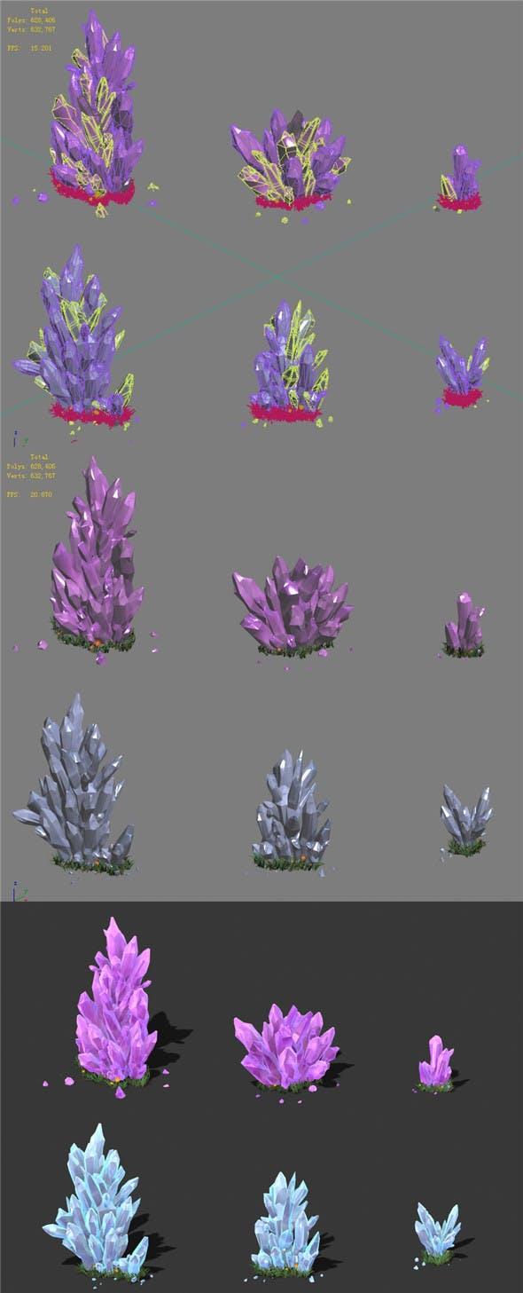Cartoon Sky City - Field Crystal 02 - 3DOcean Item for Sale