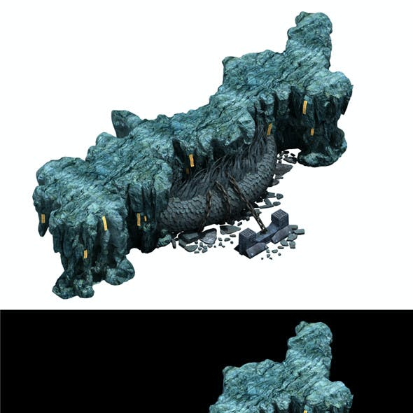 Trapped Dragon Cave - Mountain 01