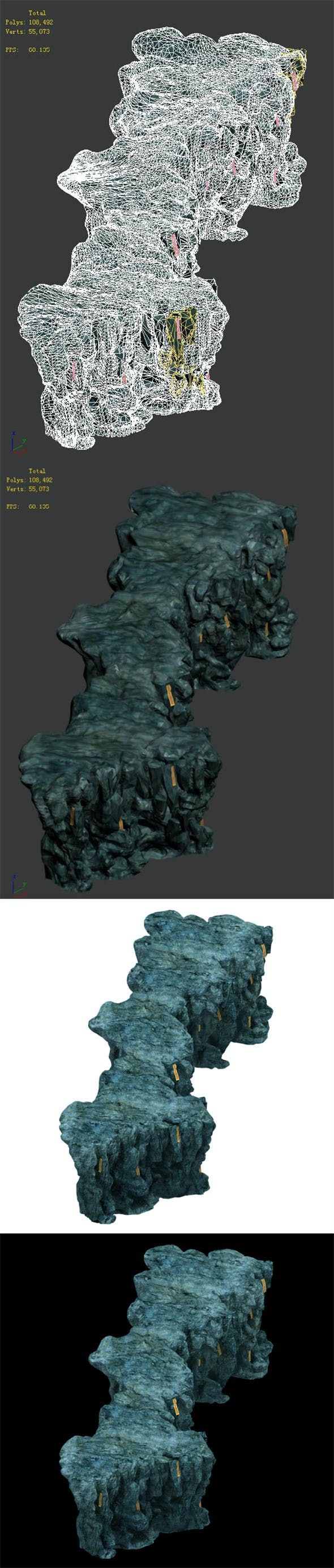 Trapped Dragon Cave - Mountain 02 - 3DOcean Item for Sale