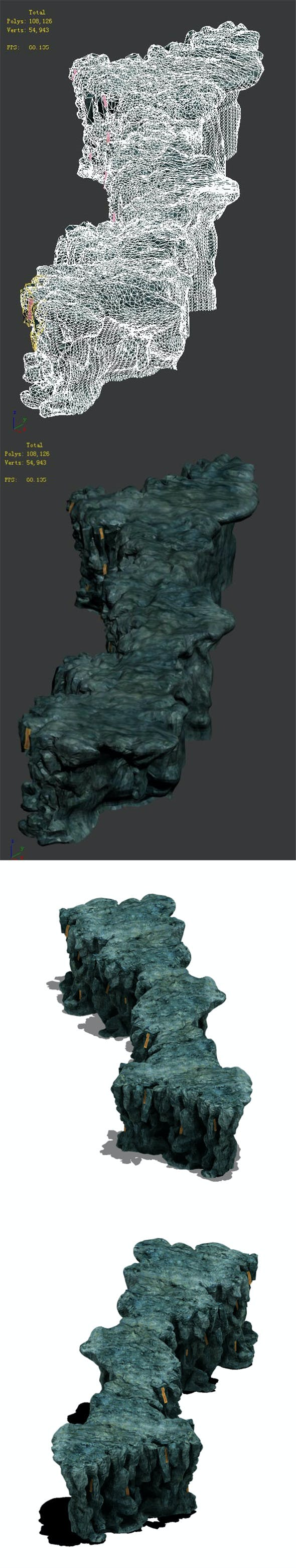 Trapped Dragon Cave - Mountain 03 - 3DOcean Item for Sale