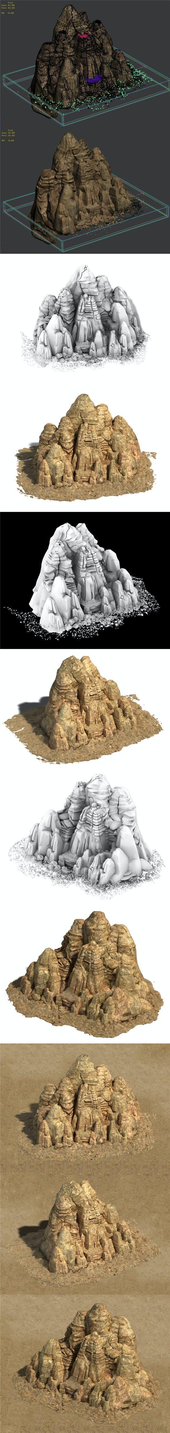 Desert - Yamagata 01 - 3DOcean Item for Sale