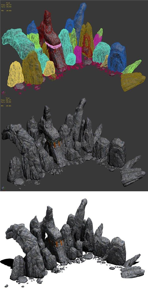 Western Hills - stone teeth 02 - 3DOcean Item for Sale