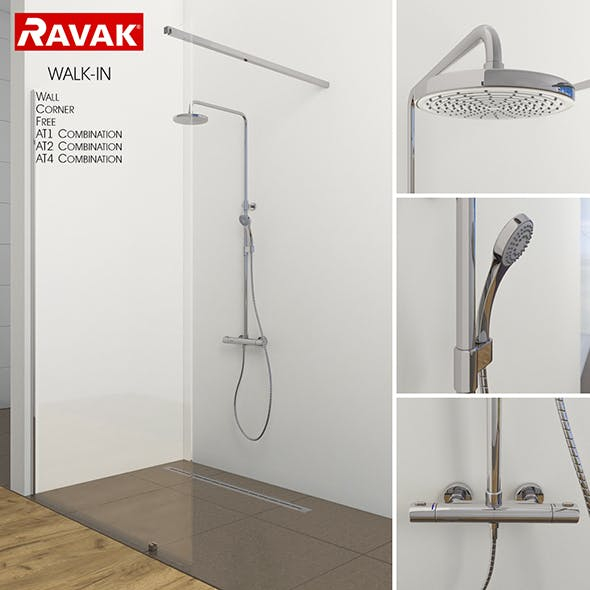 Shower room Ravak Walk-in