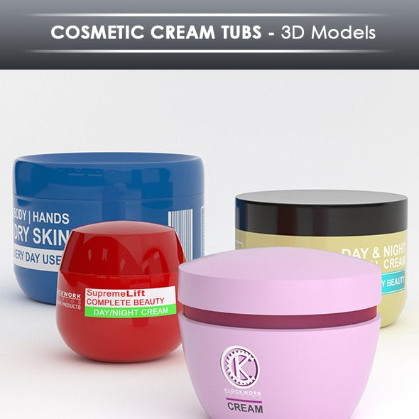 Cosmetic cream tubs
