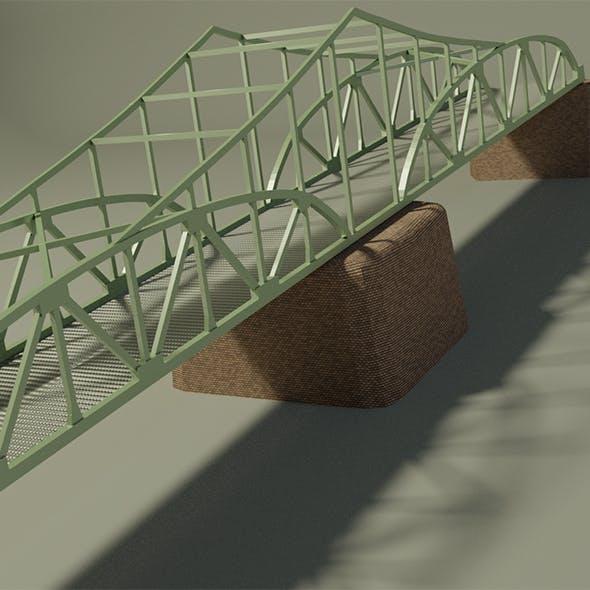 Steel bridge - 3DOcean Item for Sale