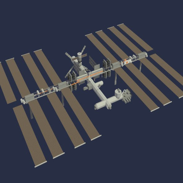 Low Poly ISS Model